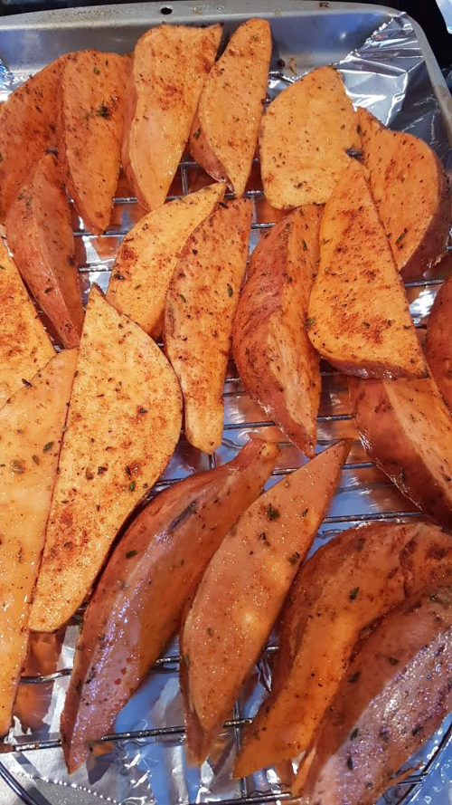 Sweet potato wediges